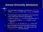 arizona university admissions