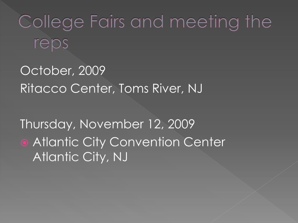 College Fairs and meeting the reps
