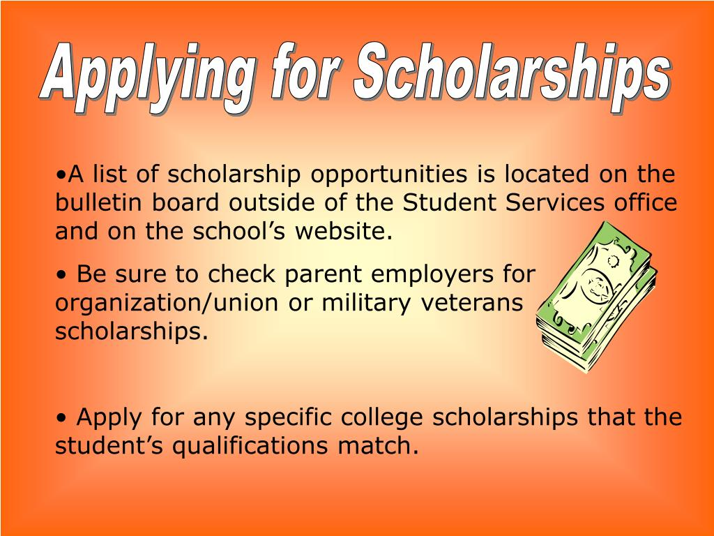 Applying for Scholarships
