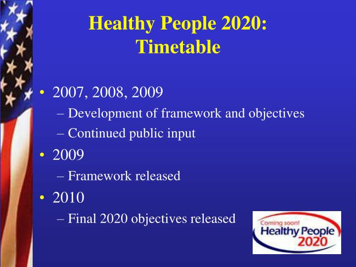 Ppt carter blakey office of disease prevention and health promotion us department of health for Healthy people 2020 is a plan designed to