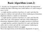 basic algorithm cont 2