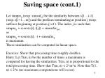 saving space cont 1