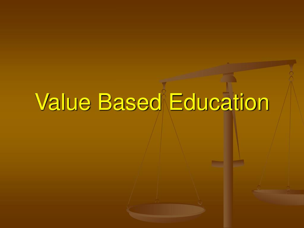 what is value based education