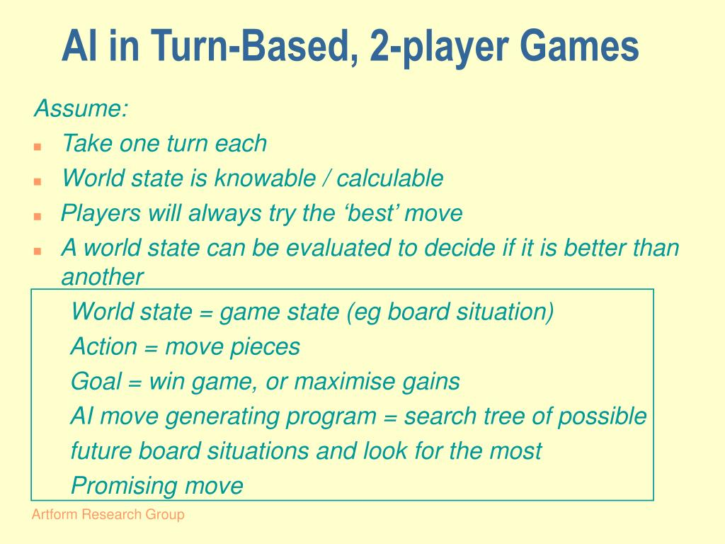 AI in Turn-Based, 2-player Games