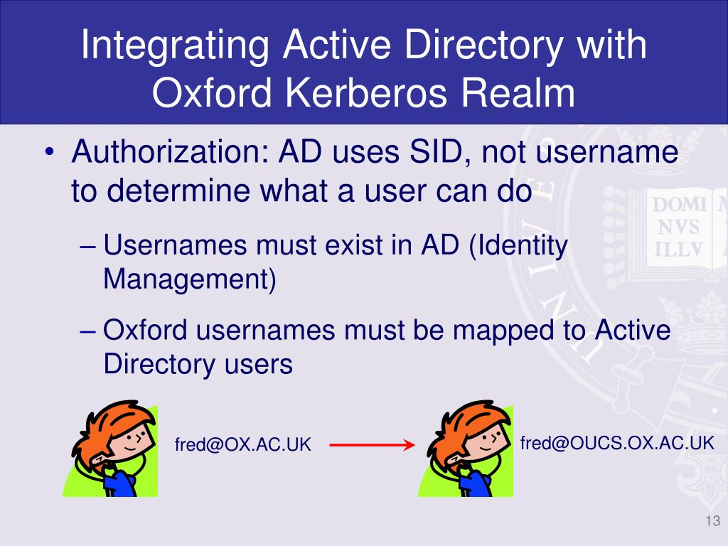 Integrating Active Directory with Oxford Kerberos Realm