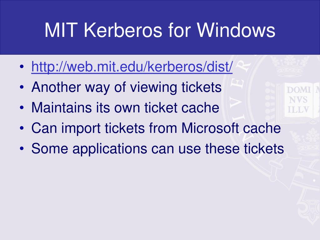MIT Kerberos for Windows