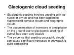 glaciogenic cloud seeding