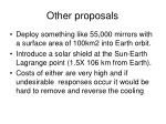 other proposals