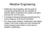 weather engineering
