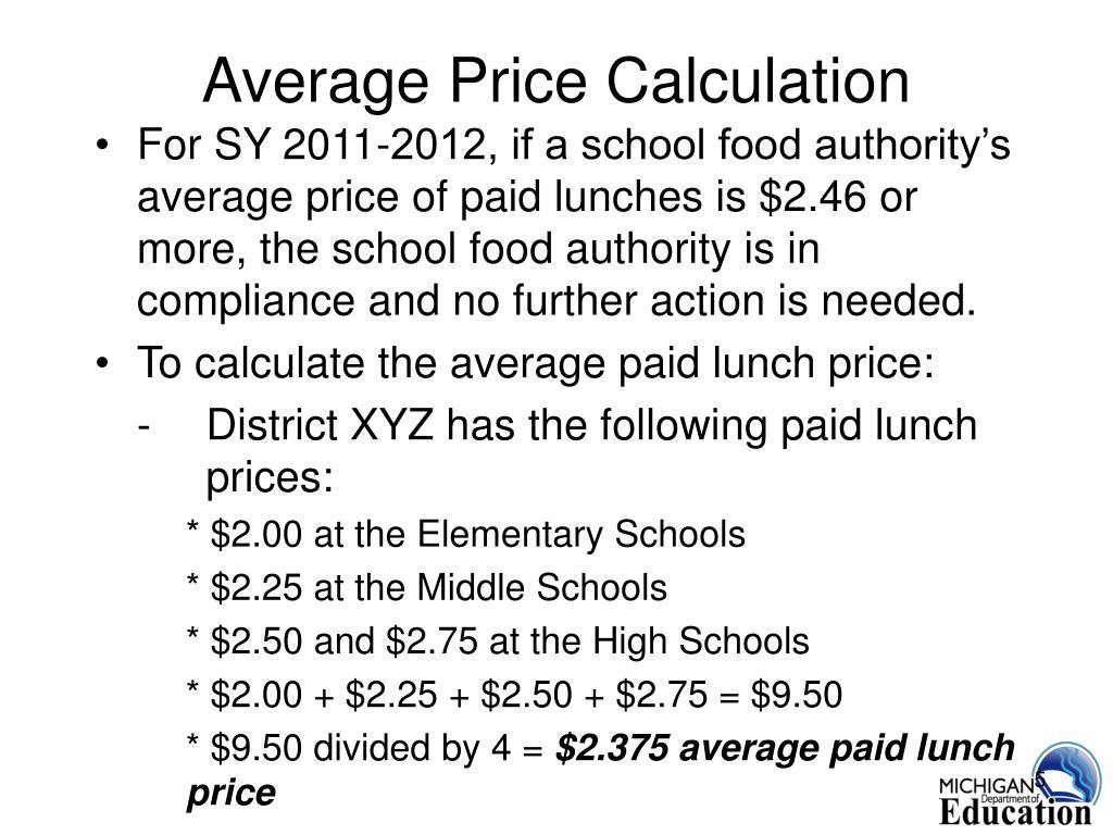 Average Price Calculation