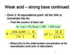 weak acid strong base continued