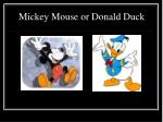 mickey mouse or donald duck