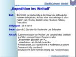 expedition ins weltall