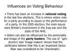 influences on voting behaviour