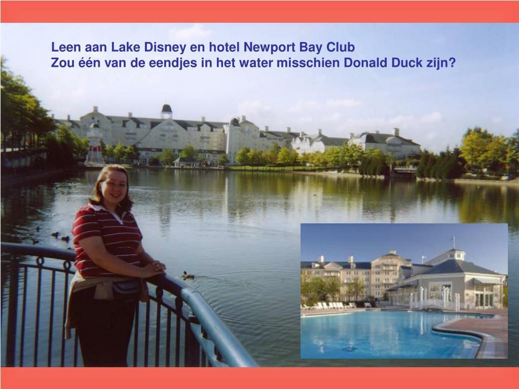 Leen aan Lake Disney en hotel Newport Bay Club