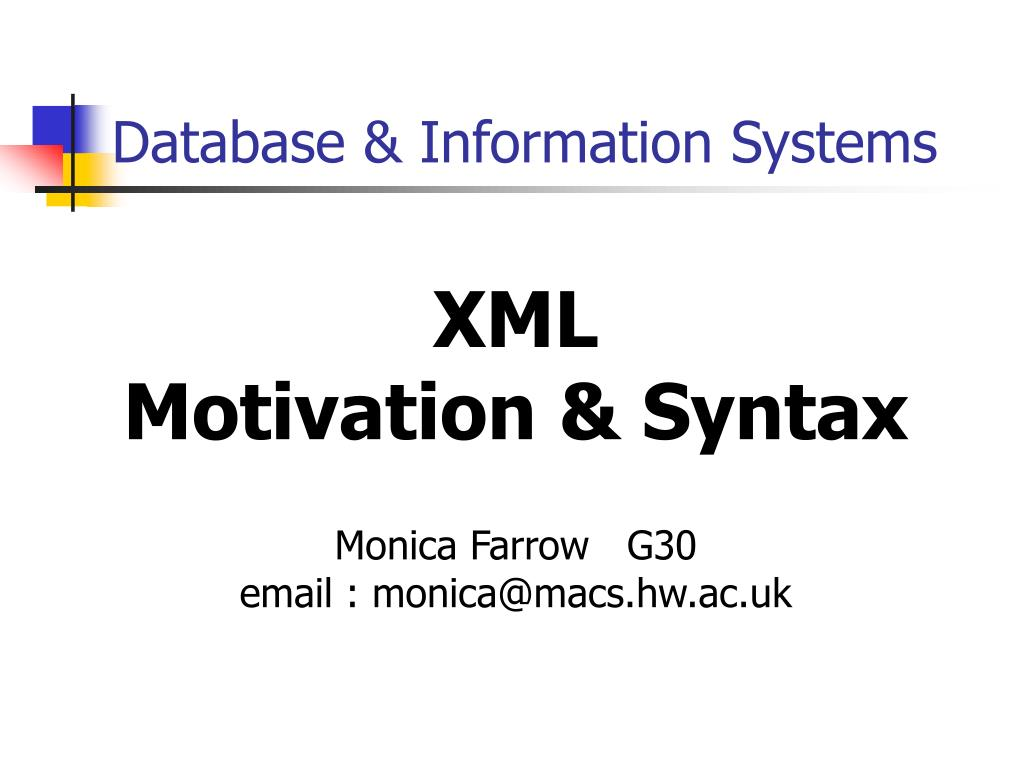 database information systems l.