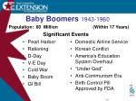 baby boomers 1943 1960