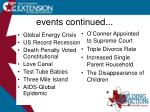 events continued