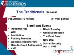 the traditionals 1901 1942
