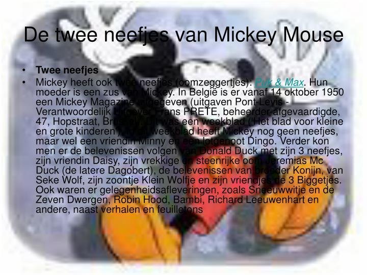 De twee neefjes van mickey mouse
