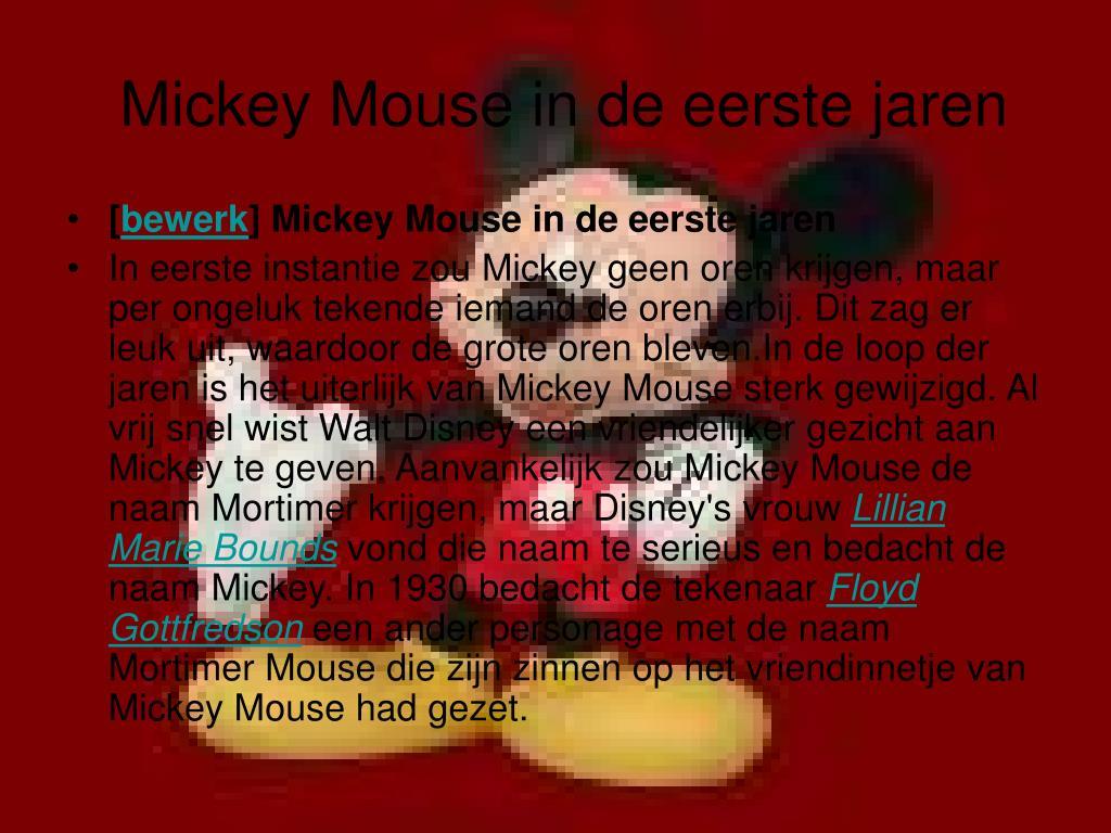 Mickey Mouse in de eerste jaren