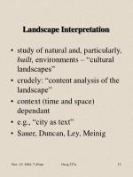 landscape interpretation