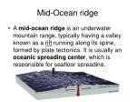 mid ocean ridge