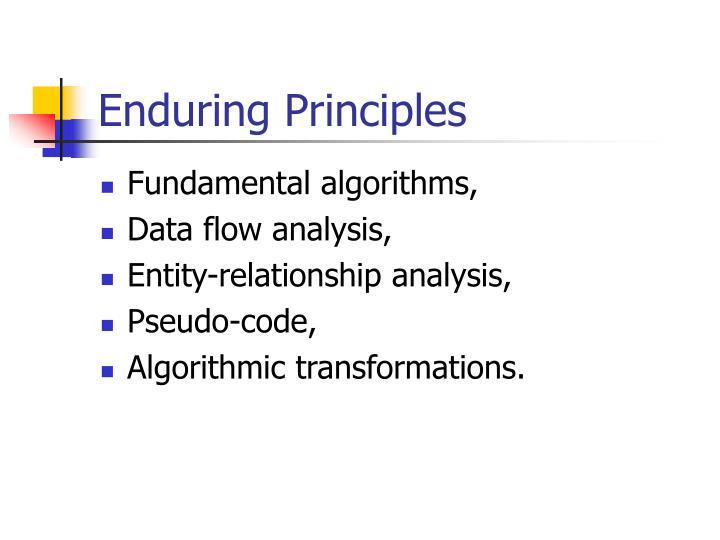 Enduring principles
