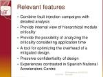 relevant features