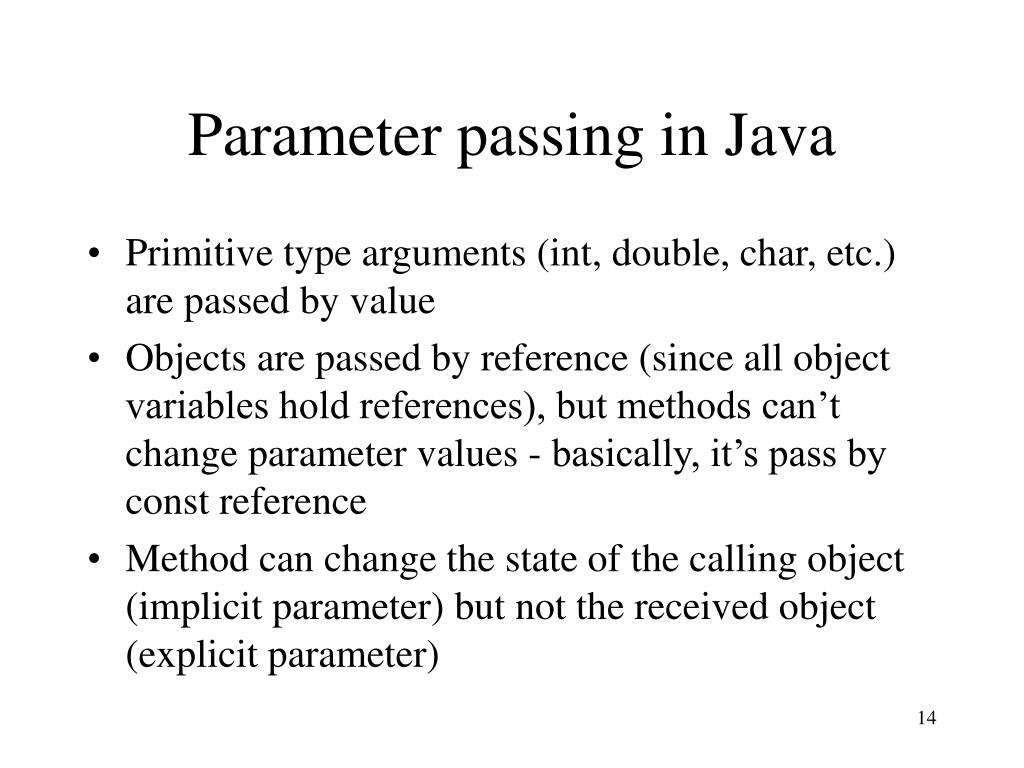 Parameter passing in Java