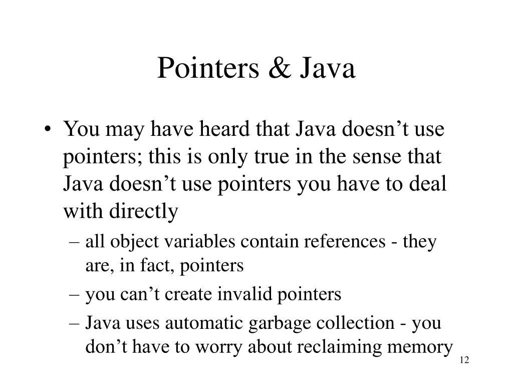 Pointers & Java