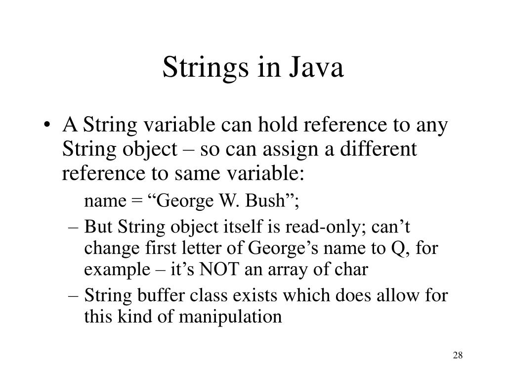 Strings in Java