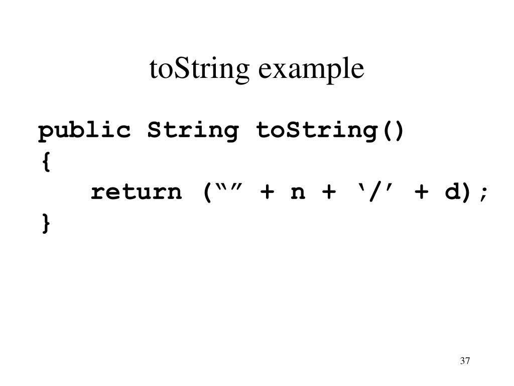 toString example