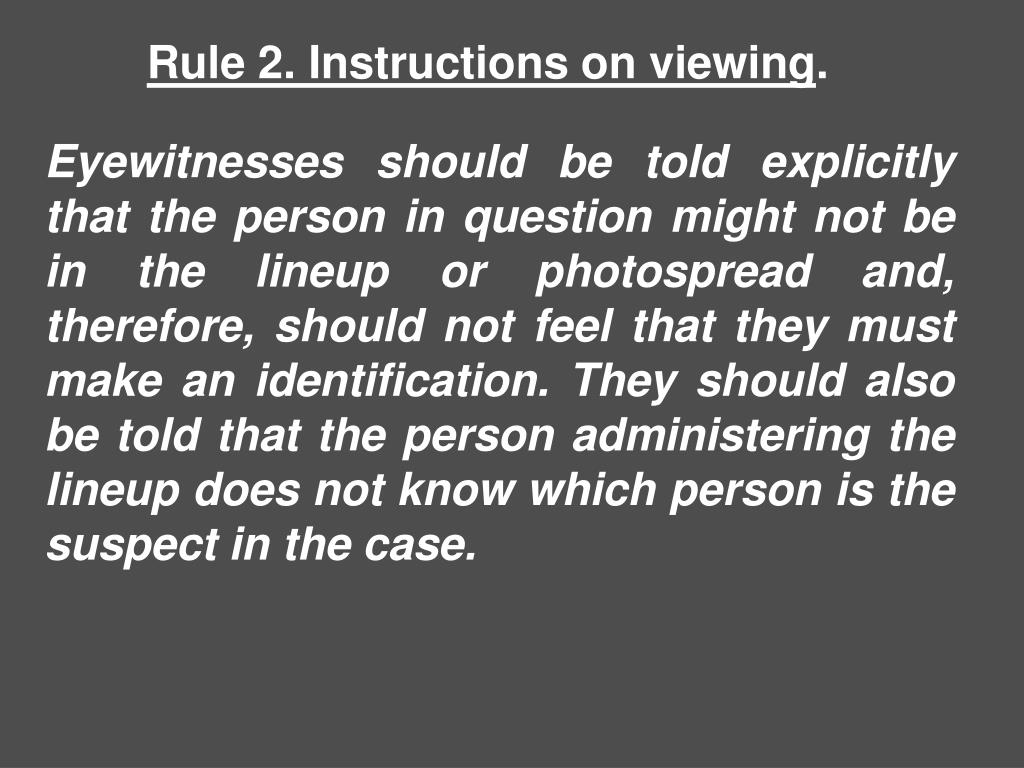 Rule 2. Instructions on viewing