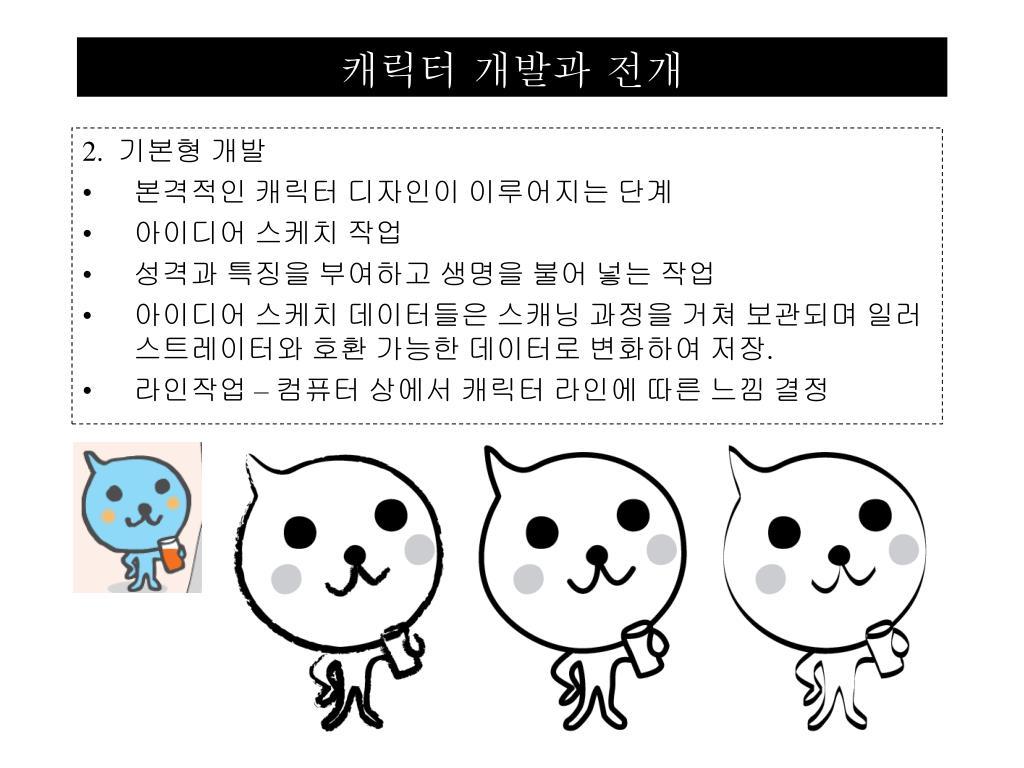 캐릭터 개발과 전개
