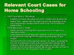 relevant court cases for home schooling6