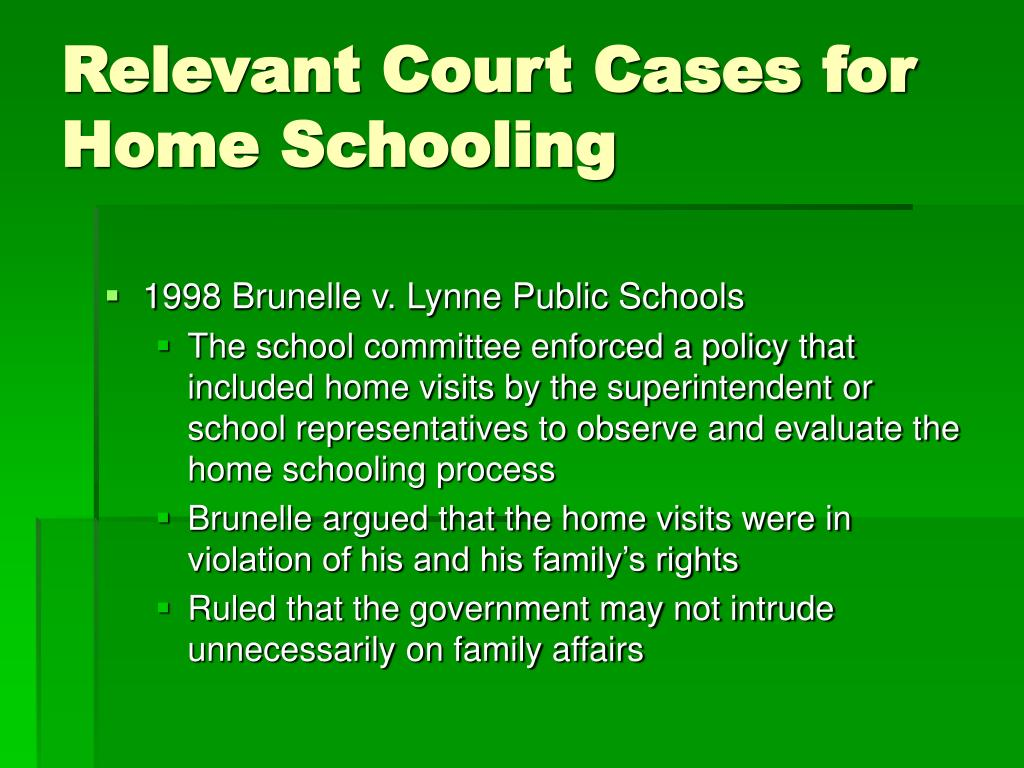 Relevant Court Cases for Home Schooling