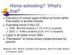 home schooling what s that