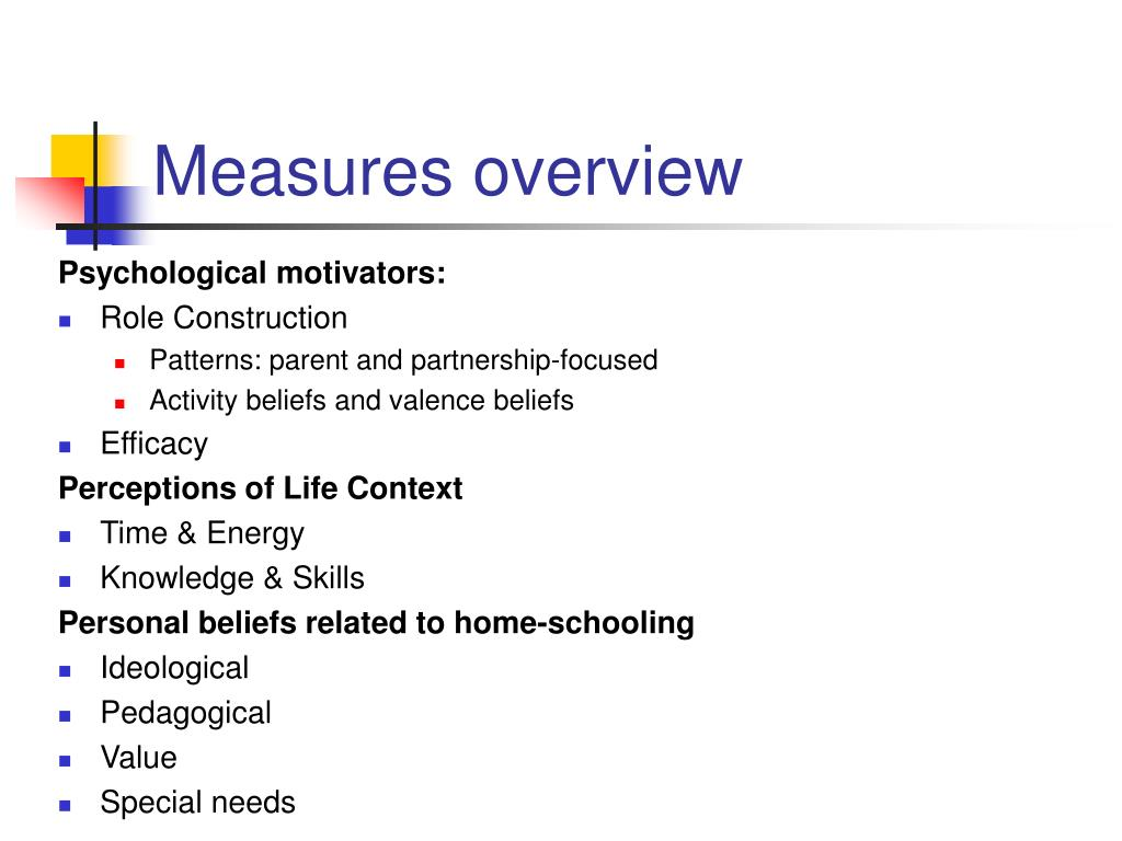 Measures overview
