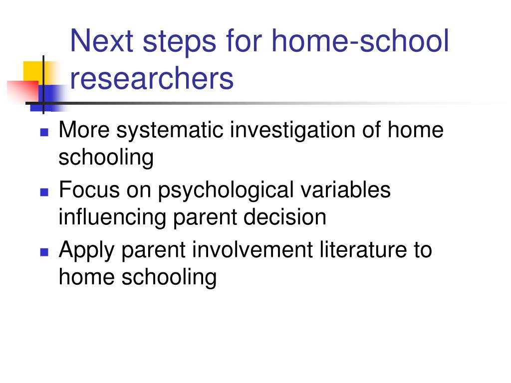 Next steps for home-school researchers