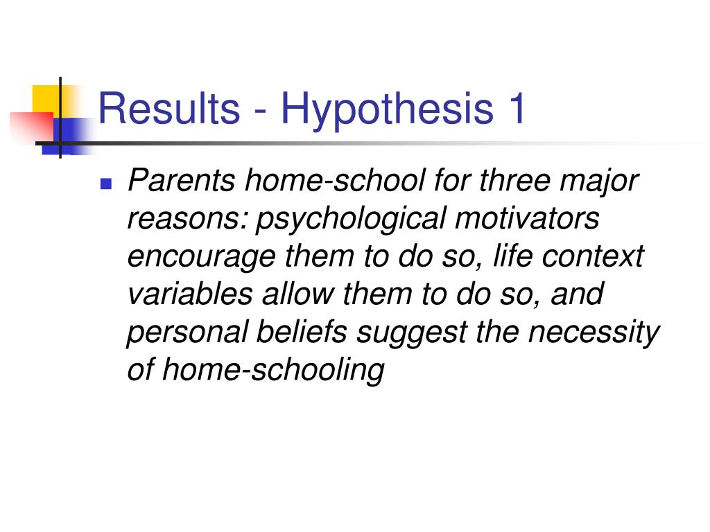 Results - Hypothesis 1