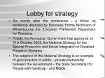 lobby for strategy