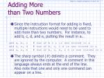 adding more than two numbers