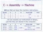 c assembly machine1