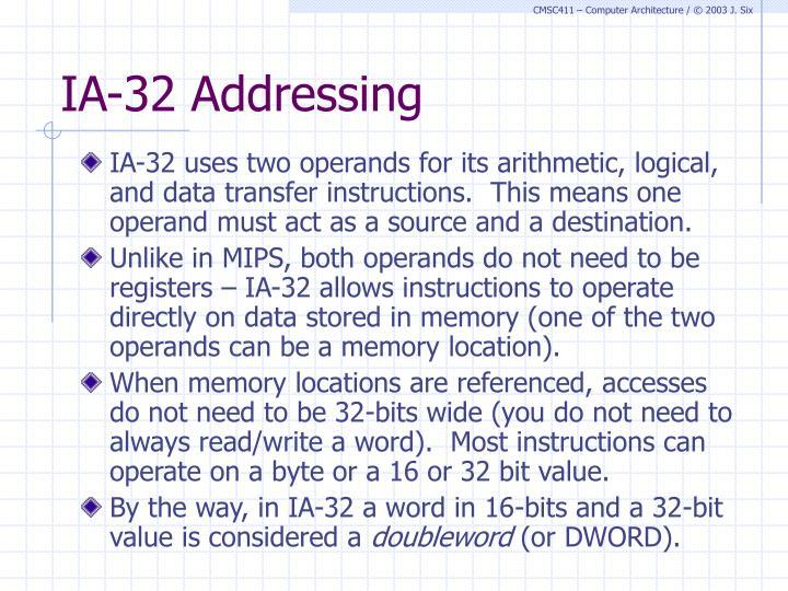 IA-32 Addressing