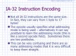 ia 32 instruction encoding