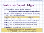 instruction format i type