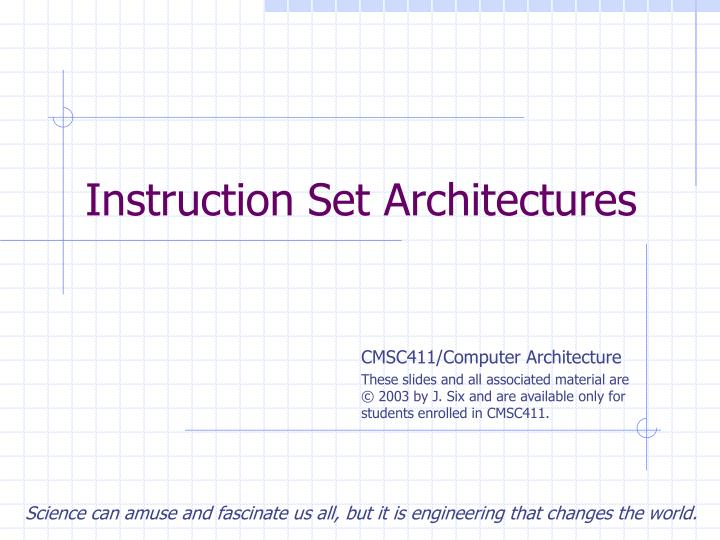 instruction set architectures n.