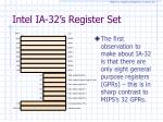 intel ia 32 s register set