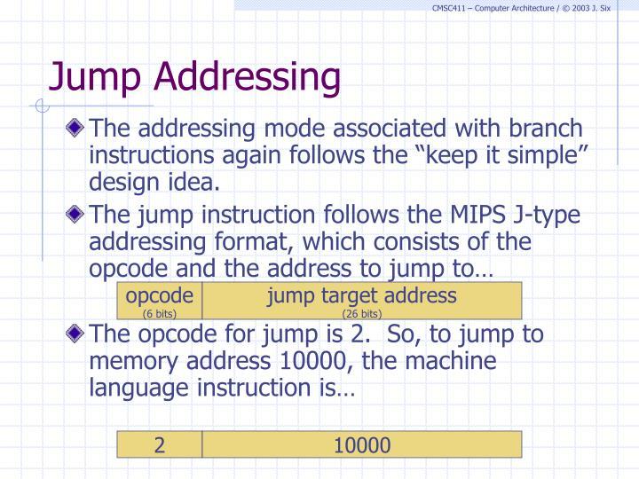 Jump Addressing